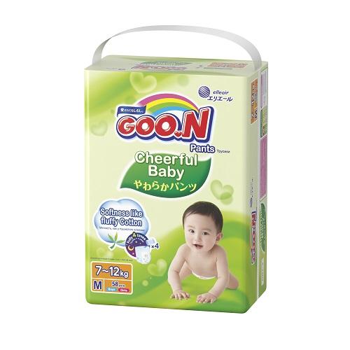 4b88299ba8a0 Goo.N Трусики-подгузники Cheerful Baby 6-11 кг (размер M, унисекс ...