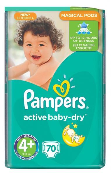 6980b4d4bb0c Подгузники Pampers Active Baby Maxi Plus 4+ (9-16кг.) 70 шт ...