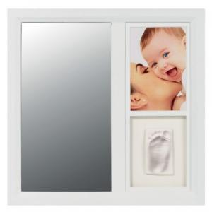 Baby Art Mirror Print Frame White & Black Рамочка с зеркалом (34120114)
