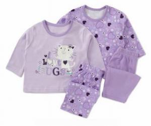 George (Англия) Пижамы Кошечка лиловые размеры 9-12 мес 99a618a52ed08