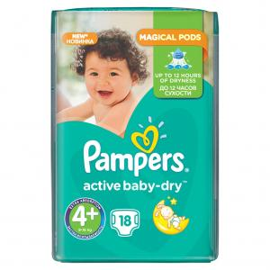 Подгузники Pampers Active Baby Maxi Plus 4+ (9-16кг.) 18 шт 4015600002886 9b014c6f16a