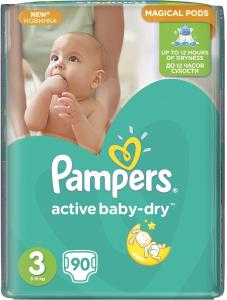 Подгузники Pampers Active Baby Midi 3 (5-9 кг)  90 шт. 4015400736226